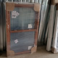 Double Hung Window w/ Woodgrain Interior