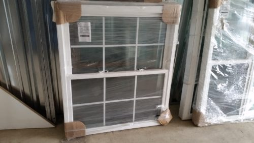 Double Hung Replacement Window With Colonial Grids