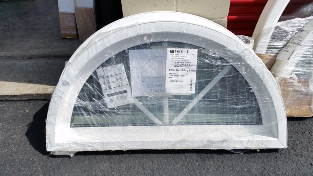 34 1 8 W X 17 3 4 H Circle Top Replacement Window 2 In