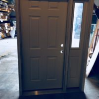 Steel Entry Door With Side Light Glass