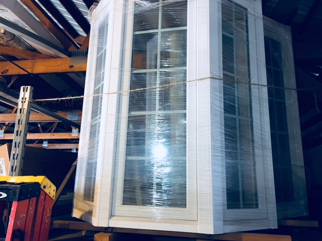 Bay Replacement Window with Colonial Grids Low-e Glass
