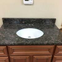 "36"" Granite Vanity Top - with under mount sink"